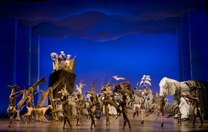 "The opening number ""The Circle of Life"" from THE LION KING Las Vegas.  ©2009, Disney.  Photo Joan Marcus."