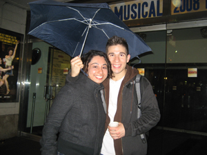 Cast Member Jon Rua with Dance Informa's Nicole Saleh