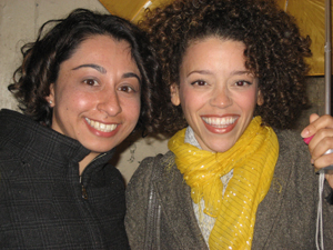 Marcy Harriell, who plays Vanessa, with Dance Informa's Nicole Saleh