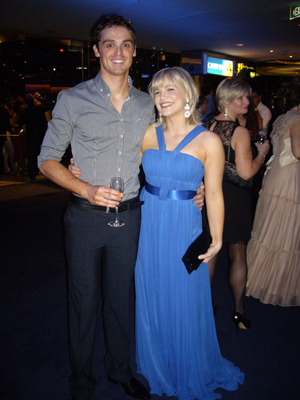 David Sommerville and Suzie Mathers at Opening Night, Sydney