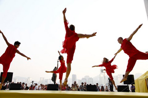 Dancers perform at Project Dance