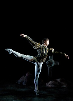 Ballet dancer Matthew Lawrence in Giselle