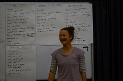 Billie Cook facilitates a creative workshop
