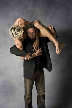 Leigh Warren holds Daniel Jaber