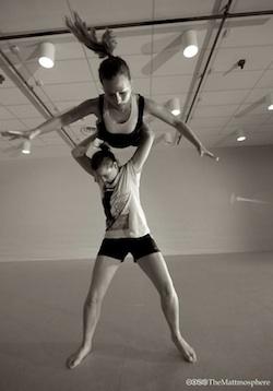 Dancers Sarah Chaffey and Rachel Forster-Jones