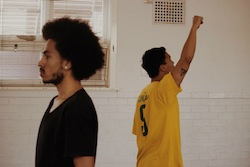 Image by Sophia Louise of Tyrone Robinson and guest artist Imanuel Dado