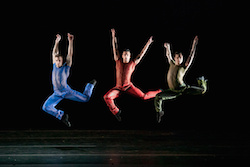 Cedar Lake Contemporary Ballet. 13 Indigo Rose LR -  Joseph Kundra, Jon Bond, Billy Bell. Photo by Sharen Bradford.