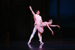 Queensland Ballet Clare Morehen & Huang Junshuang in Cinderella 2013. Photo David Kelly.