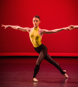 Elisabeth Zorino performing in New Zealand School of Dance Graduation Season, photographed by Stephen A'Court.