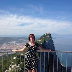 Joyah Spangler visiting the rock of Gibraltar on an excursion from the Photo courtesy of Joyah Spangler.
