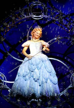 Suzie Mathers as Glinda in 'Wicked'