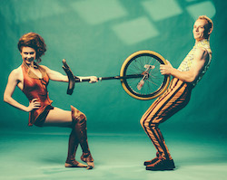 Performers April Dawson and Kyle Raftery from Circus Oz's 'But Wait ... There's More