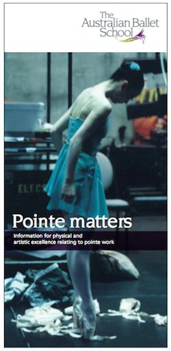 Australian Ballet School presents 'Pointe Matters'.