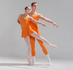 New Zealand School of Dance students Charlotte Gleeson and Ben Crossley-Pritchard