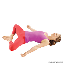 lying diamond yoga pose