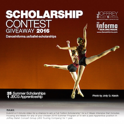 Joffrey Ballet School Scholarships
