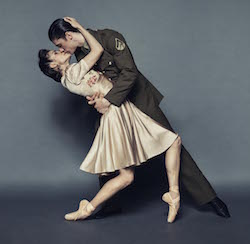 Laura Hidalgo and Vito Bernasconi in Queensland Ballet's 'Lest We Forget'.