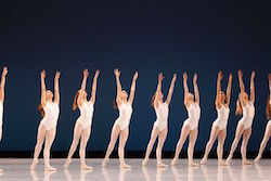 The Australian Ballet in George Balanchine's 'Symphony in Three Movements'. Photo by Jeff Busby