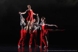 The Australian Ballet in Twyla Tharp's 'In the Upper Room'. Photo by Jeff Busby