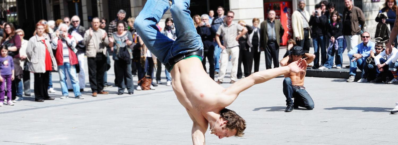 break dancer street performer