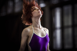 In rehearsal for Sydney Dance Company's 'Lux Tenebris'. Dancer Jesse Scales. Photo by Peter Greig.