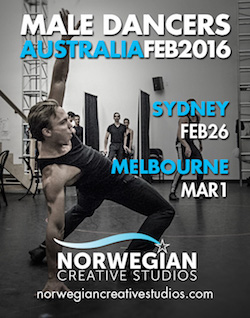 Norwegian Cruise Line is visiting Australia this month to audition for lead roles and for male dancers.