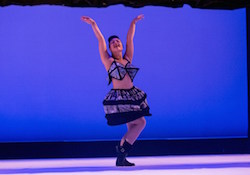 Caitlin Eames performs with Creative Behaviours at the 2015 Common Threads Showcase. Photo courtesy of City of Mandurah.