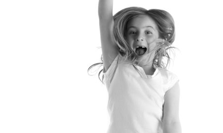 Dancing child for Maths Through Movement. Photo courtesy of Rachael Bott.