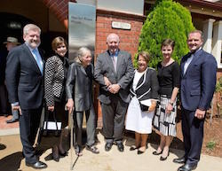 (L to R): Senator the Hon Mitch Fifield, Minister for the Arts; Marilyn Rowe OBE, Former Director The Australian Ballet School; Dame Margaret Scott AC DBE, Former Director The Australian Ballet School; His Excellency General the Honourable Sir Peter Cosgrove AK MC (Retd) Governor-General of the Commonwealth of Australia; Lady Cosgrove Lisa Pavane, Director of The Australian Ballet School; Leigh Johns, Chairman of The Australian Ballet School. Photo courtesy of ABS.