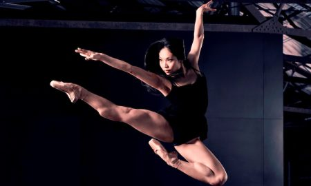'Speed of Light' featuring RNZB dancer Mayu Tanigaito. Photo by Ross Brown.