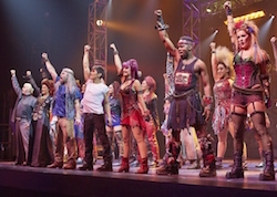 The cast of 'We Will Rock You'. Photo courtesy of www.wewillrockyou.com.au.