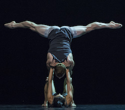 Sydney Dance Company, Lux Tenebris (4). Dancers Charmene Yap and Todd Sutherland