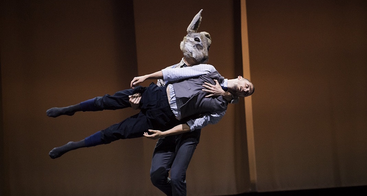 Bradley Waller in BalletBoyz 'Rabbit'. Photo by Tristram Kenton.