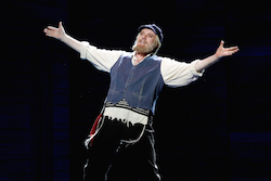 Anthony Warlow in the Australian Production of 'Fiddler on the Roof'. Photo by Jeff Busby.