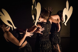 'Fragments of Malungoka Women of the Sea', choreographed by Ghenoa Gela. Photo by Gregory Lorenzutti for Dancehouse.