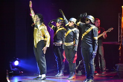 Dantanio and Soldiers in the Michael Jackson 'HIStory' Tour. Photo courtesy of 'HIStory'.