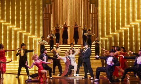 The cast of Cirque du Soleil's 'Paramour', on Broadway at the Lyric Theatre. Photo by Richard Termine...