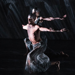 Daniel Riley in 'Nyapanyapa', as part of 'OUR land people stories'. Photo by Jhuny-Boy Borja.