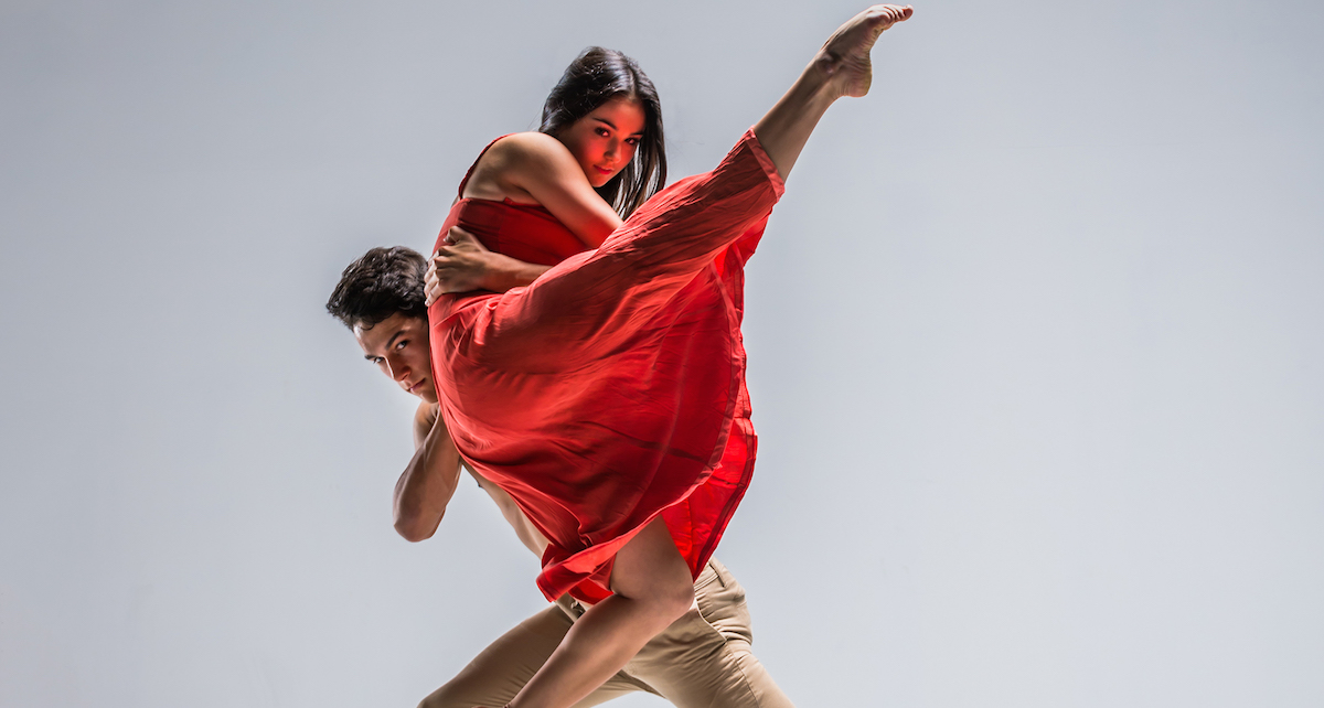 New Zealand School of Dance students Jessica Johns and Toa Paranihi, photographed by Stephen A'Court