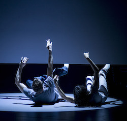 Stephen Phillips and Lauren Langlois in 'Lucid', choreographed by Anouk van Dijk. Photo by Pippa Samaya.