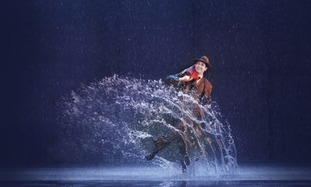 Adam Garcia in 'Singin' in the Rain'. Photo by Jeff Busby.