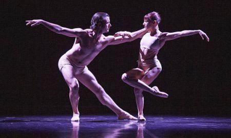Matthew Lehmann and Sandy Delasalle in WAB's 'La Pluie'. Photo by Sergey Pevnev