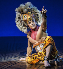 Nicholas Afoa (Simba) in Disney's 'The Lion King' at the Lyceum Theatre, London. Photo by Disney (2)