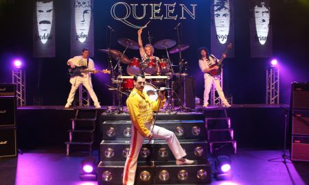 The band in the tribute show 'Queen-It's a Kinda Magic'.