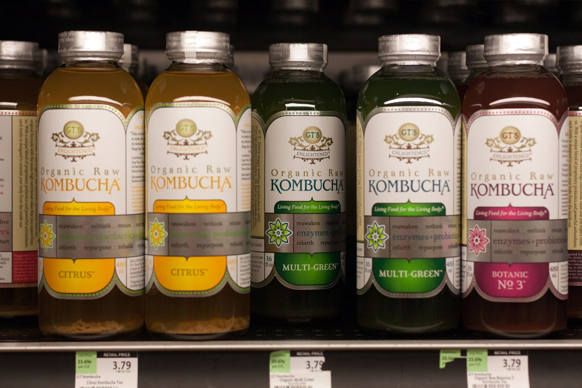 Kombucha tea drink