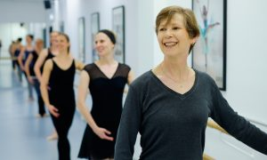 A class at Elancé Adult Ballet School. Photo by Jim McDonagh.