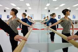 Adult ballet class at Elancé Ballet School. Photo by Jim McDonagh.