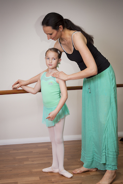 Alexandra Cownie with a ballet student. Photo courtesy of Cownie.