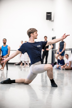 Joseph Skelton in 'Giselle' rehearsal. Photo by Stephen A'Court.