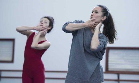 Melanie Lane in rehearsal with Juliet Burnett. Photo by Ron Fung.